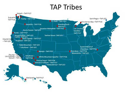 TAP Tribes map graphic